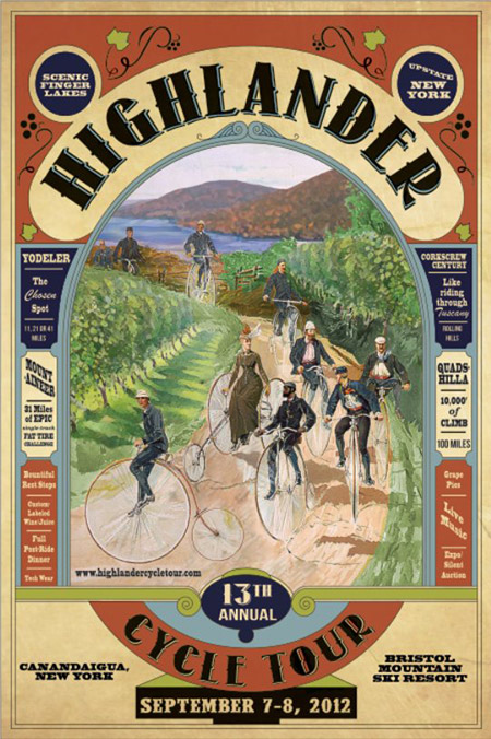 highlander cycle tour poster